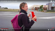 Hitchhiking in New Zealand.