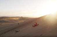 Sandboarding in The Dunes, Cape Reinga